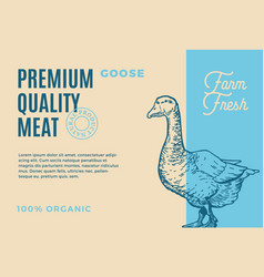 premium quality coose abstract meat vector image vector image