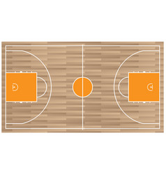 wooden baseball court top view icon isolated on vector image vector image