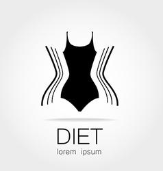 diet logo vector image