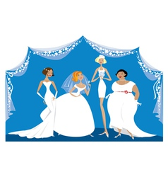 Different brides vector image vector image