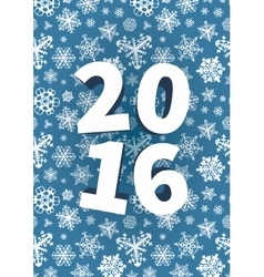 Happy New Year background with snowflakes vector image vector image