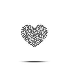 heart of butterflies love symbol vector image