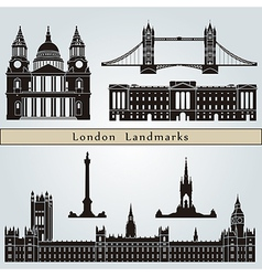 London landmarks and monuments vector image