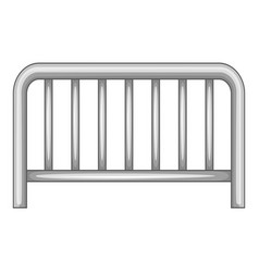 metal fence icon monochrome vector image