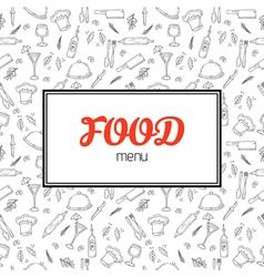 Restaurant menu design Menu template with hand vector image vector image