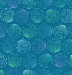 Seamless pattern of seashells vector image