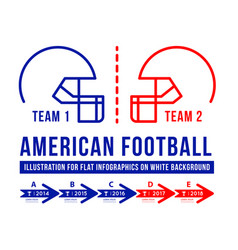 american football is the history of meetings vector image
