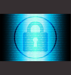 blue future technology internet security vector image vector image