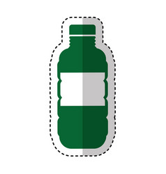 bottle plastic isolated icon vector image