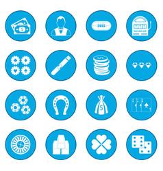 casino icon blue vector image