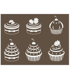 cupcakes set vector image