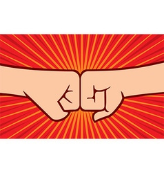 Fist Punching vector image vector image