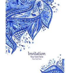 invitation card with fashion beautiful pattern for vector image