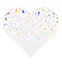 pin fireworks heart vector image