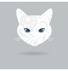 Portrait of a cat with a flat design vector image vector image