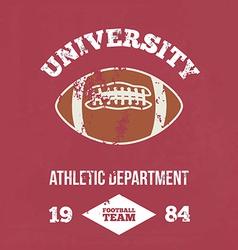 University football athletic dept vector image