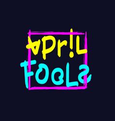 April fools lettering vector
