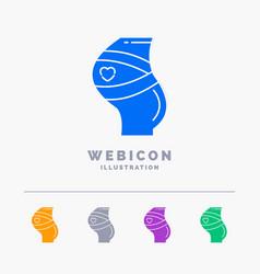 belt safety pregnancy pregnant women 5 color vector image