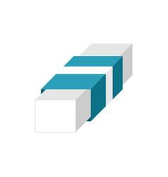 Block rubber eraser design vector
