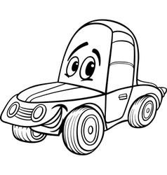 car cartoon for coloring book vector image
