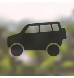 Car SUV icon on blurred background vector