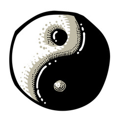 cartoon image of ying yang icon vector image