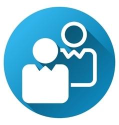 Clients Gradient Round Icon vector