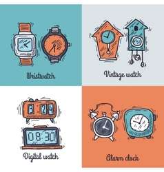 Clock Design Concept vector image