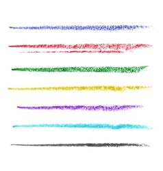 colored brush strokes pastel vector image