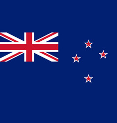 Colored flag of new zealand vector