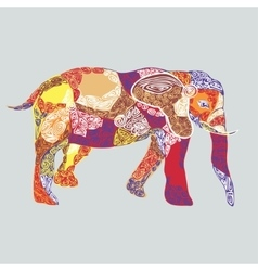 Colored pattern elephant vector