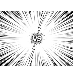 Comic versus battle intro vintage background vector