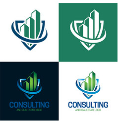 Consulting and real estate logo vector