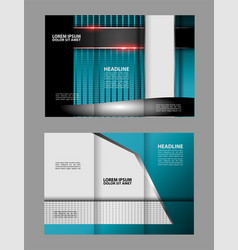 corporate red tri fold business brochure design te vector image