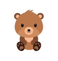 cute cartoon bear backgrounds flat design vector image