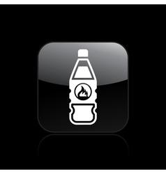 danger bottle icon vector image