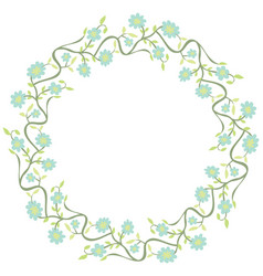 decorative floral circle vector image