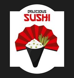 delicious sushi vector image