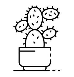 desert cactus pot icon outline style vector image