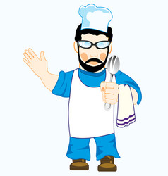 drawing of the cook in robe vector image