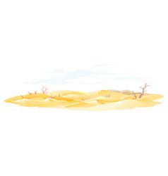 Dry trees in desert vector