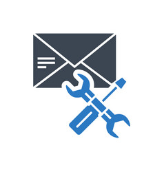 E-mail support glyph icon vector
