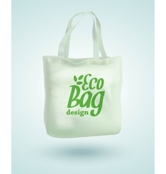 Eco Fabric Cloth Bag Tote Isolated on White vector image