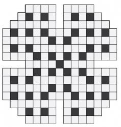 empty crossword puzzle vector image