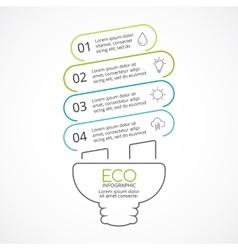 Energy efficient light bulb eco linear vector