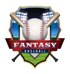 Fantasy Baseball Badge vector image