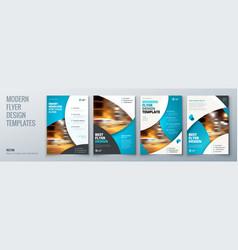 Flyer template layout design business flyer vector