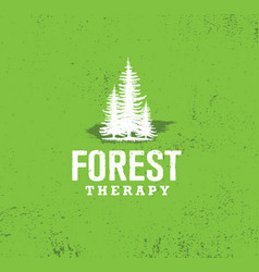 Forest therapy guide nature friendly coaching vector