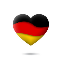 germany flag icon in shape heart waving in vector image