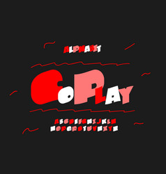 Go play font alphabet vector